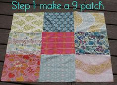 disappearing 9 patch quilt block..i think I can do this one.