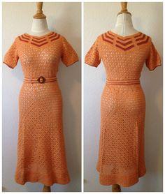 1930's crocheted dress