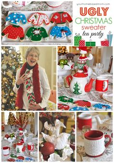 Ugly Christmas Sweater Tea Party