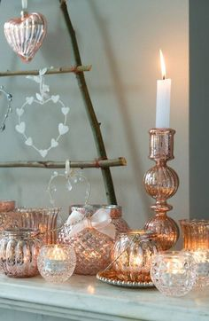 Candle Light mercury glass