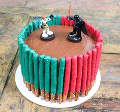 Star Wars light saber cake More