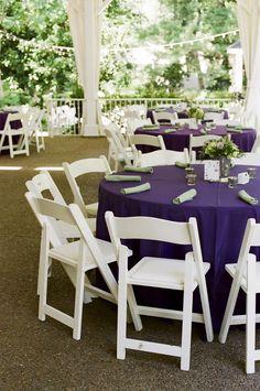 Nashville Garden Wedding | Purple Green and White Reception - Photo: JHenderson Studios