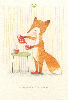 Просмотреть иллюстрацию чашечку чая? из сообщества русскоязычных художников автора Катя Гончарова в стилях: Графика, Книжная графика, нарисованная техниками: Акварель.
