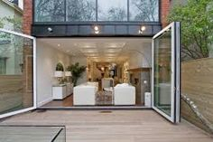 Image result for folding glass wall detail
