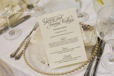 Printable Wedding Menu Card - Pretty Script. $20.00, via Etsy.