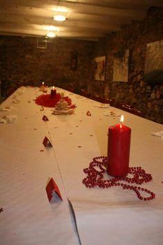 Decoración mesa d Navidad.