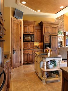 Add Molding to Old Cabinets. Great way to update dated kitchens!