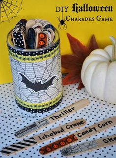 Halloween charades game and fall bucket list