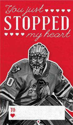 You just stopped my heart! #BlackhawksValentines