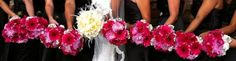 Pink Gerber Daisy Wedding Bouquets love it for the bridesmaids.