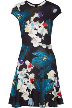 ERDEM Darlina printed stretch-ponte dress