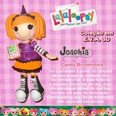Boneca Lalaloopsy Candy Broomstick em e.v.a. 3D - by Joaphia