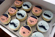 Moustache cupcakes - meet my boys