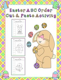 This activity has students cuting out words and pasting them in ABC Order. The squares are numbered so that students know where to start. There are 3 sets of words, each with different words. I've even included When they finish, they may color the picture.