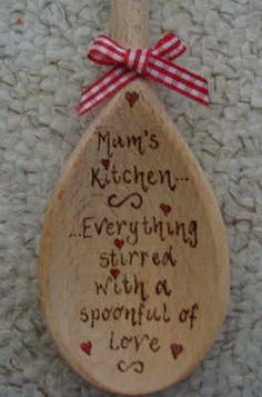 'Mum's Kitchen' personalised wooden spoon 30cm mother;s day/birthday gift Nan…
