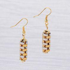 FREE PDF : Tila earrings ~ Seed Bead Tutorials