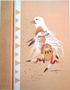 Stay up to date with Doc Tate Nevaquaya (Native American, 1932 - . Discover works for sale, auction results, market data, news and exhibitions on MutualArt. Native American Paintings, Native American Artists, American Indian Art, American Indians, Native Art, Art Auction, Nativity, Rooster, Dragonflies