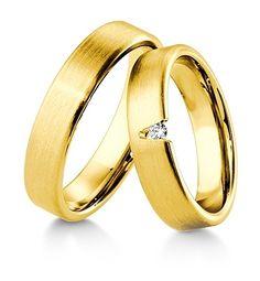 Breuning Trouwringen | Inspiration collectie gouden ringen | 5mm briljant 0.05ct verkrijgbaar in 8,14 en 18 karaat | 48041230 / 48041240 OOK in wit en rozé goud verkrijgbaar #trouwringen