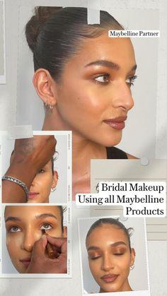 Makeup Eye Looks, Natural Makeup Looks, Cute Makeup, Pretty Makeup, Simple Makeup, Skin Makeup, Wedding Hair And Makeup, Bridal Makeup, Makeup Tips