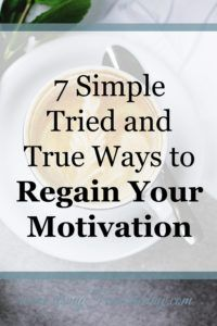 Feel like you were busy all day, but did not accomplish much? When this happens motivation is naturally lost. Read to find how to regain your motivation.
