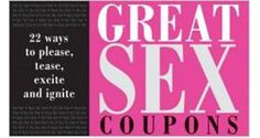 Great Sex Coupons: 22 Ways to Please Tease Excite and Ignite Kinky Gifts for Him Valentines Day Gifts For Him, Valentine Day Crafts, Be My Valentine, Cool Ideas, Creative Ideas, Bachelorette Gifts, Love Days, Love Gifts, Bf Gifts
