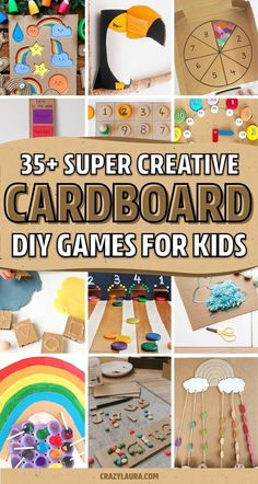 Do you have leftover Amazon cardboard boxes piling up and want to use them for a fun craft project for your kids?? Check out these cardboard craft tutorials and ideas to upcycle those boxes into a creative activity! #crafts #kidscrafts #craftideas #cardboardcrafts Fun Projects For Kids, Crafts For Kids To Make, Crafts For Girls, Cool Diy Projects, Fun Crafts, Craft Projects, Cardboard Boxes, Cardboard Crafts, Creative Activities