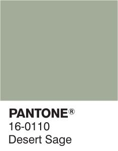 We are loving #Pantone​'s colours for 2015. Our favourite is Desert Sage; a soothing, unobtrusive yet stylish green/gray.