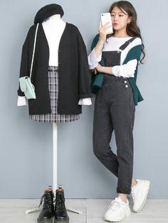 마리쉬♥패션 트렌드북! Korean Girl Fashion, Korean Fashion Trends, Ulzzang Fashion, Korea Fashion, Cute Fashion, Asian Fashion, Look Fashion, Kpop Fashion Outfits, Edgy Outfits