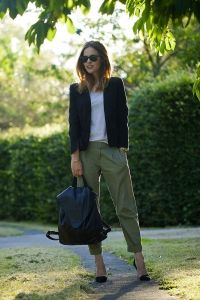 classic style and backpack