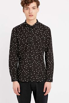 Suit Dog Shirt in Black - Urban Outfitters