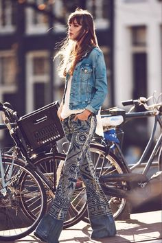 "fashion-universes:    Free People Features ""Girls on Bikes"" for its January 2013 Catalogue"