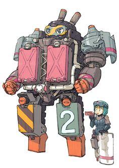 May 13 2016 at metal-maniac-starship-mechanic. Character Concept, Character Art, Concept Art, Comics Illustration, Illustrations, Fortes Fortuna Adiuvat, Cool Robots, Sci Fi Characters, Robot Art