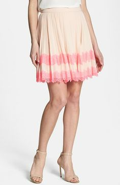 Ted Baker London Pleated Lace Stripe Skirt available at #Nordstrom