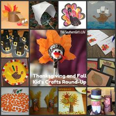 This Southern Girl's Life: Thanksgiving and Fall Kid's Craft Round-Up
