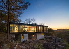 Artist's retreat in West Virginia sits above a limestone quarry