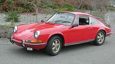 sexy red classic Porsche 911