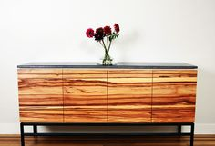 Wud Furniture Design: Red and Gray Sideboard