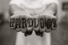 luckyolelo/hardluck knuckle tattoo