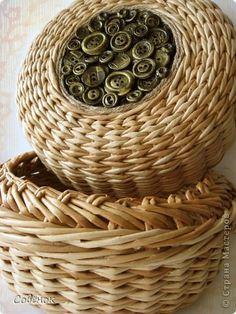 Поделка изделие Плетение Кленовое дубовое решетчатое  Трубочки бумажные фото 4