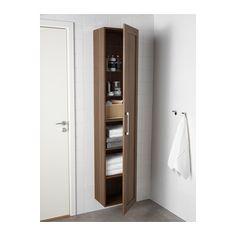 GODMORGON High cabinet, walnut effect walnut walnut effect 15 3/4x11 3/4x75 5/8