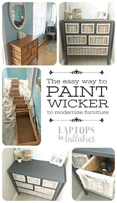 Painting Wicker Driftwood Grey | For the Home | Pinterest ...