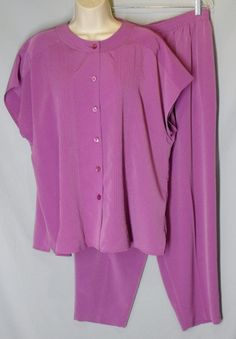 MAGGIE SWEET size 1X and Petite Purple Orchid Blouse & Pants set SAVANNAH #MaggieSweet #PantSets