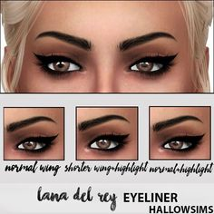 Sims 4 CC's - The Best: HallowSims LANA DEL REY EYELINER