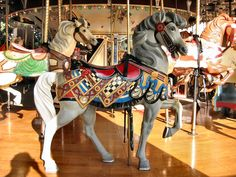The 1925-28 PTC #51 Carousel at Elitch Gardens Denver, CO - PTC Outside Row Stander