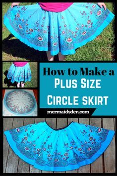 In this tutorial, I'll walk you through the process of creating a plus size circle skirt using a vintage fabric panel. These panels are a little difficult to find, so I'll give you some alternative fabric choices as well.
