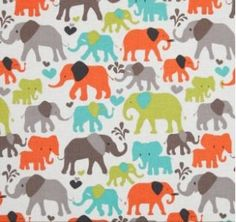 Boppy cover in Michael millers its a boy thing elephant walk in the color dirt brown, you choose zipper or sham opening on Etsy, $20.00