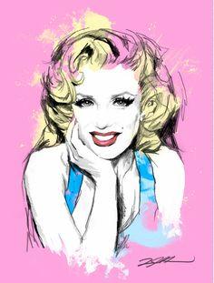 Marilyn Monroe Pop art Fine art illustration art print Luis Arredondo. via Etsy.