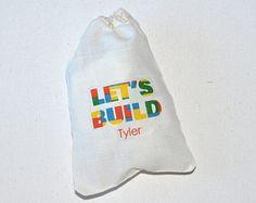 Building Blocks: favor bag personalized
