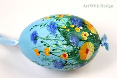 Easter eggs, hand painted from ArtWilk by DaWanda.com