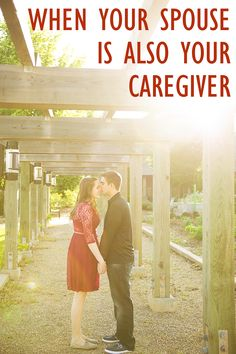 When your spouse is also your caregiver, a happy relationship can become stressed beyond endurance. In this post I'll share tips on how to ease the burden. Caregiver Quotes, Illness Quotes, Dementia Activities, Aging Parents, Alzheimer's And Dementia, Elderly Care, Happy Relationships, Relationship Goals, Thoughts